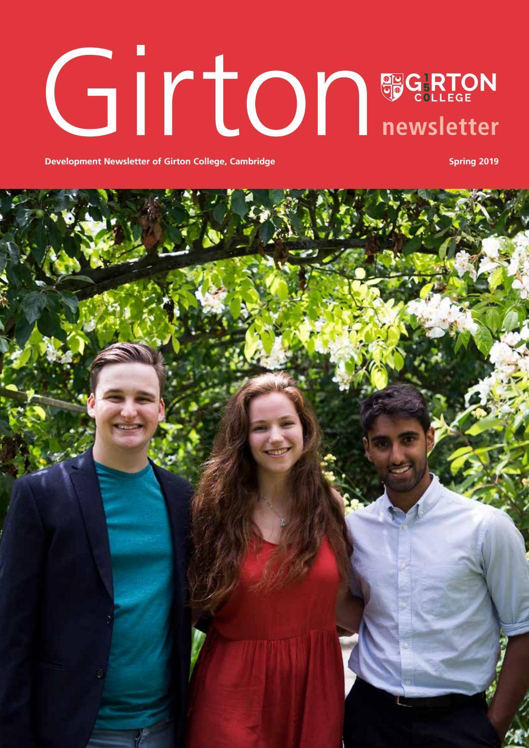 Girton College Newsletter 2019 by Girton College - issuu