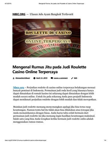 Mengenal Rumus Jitu Pada Judi Roulette Di Casino Online Terpercaya By Domino88asia Issuu