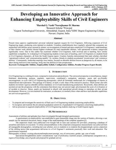 Developing an Innovative Approach for Enhancing Employability Skills