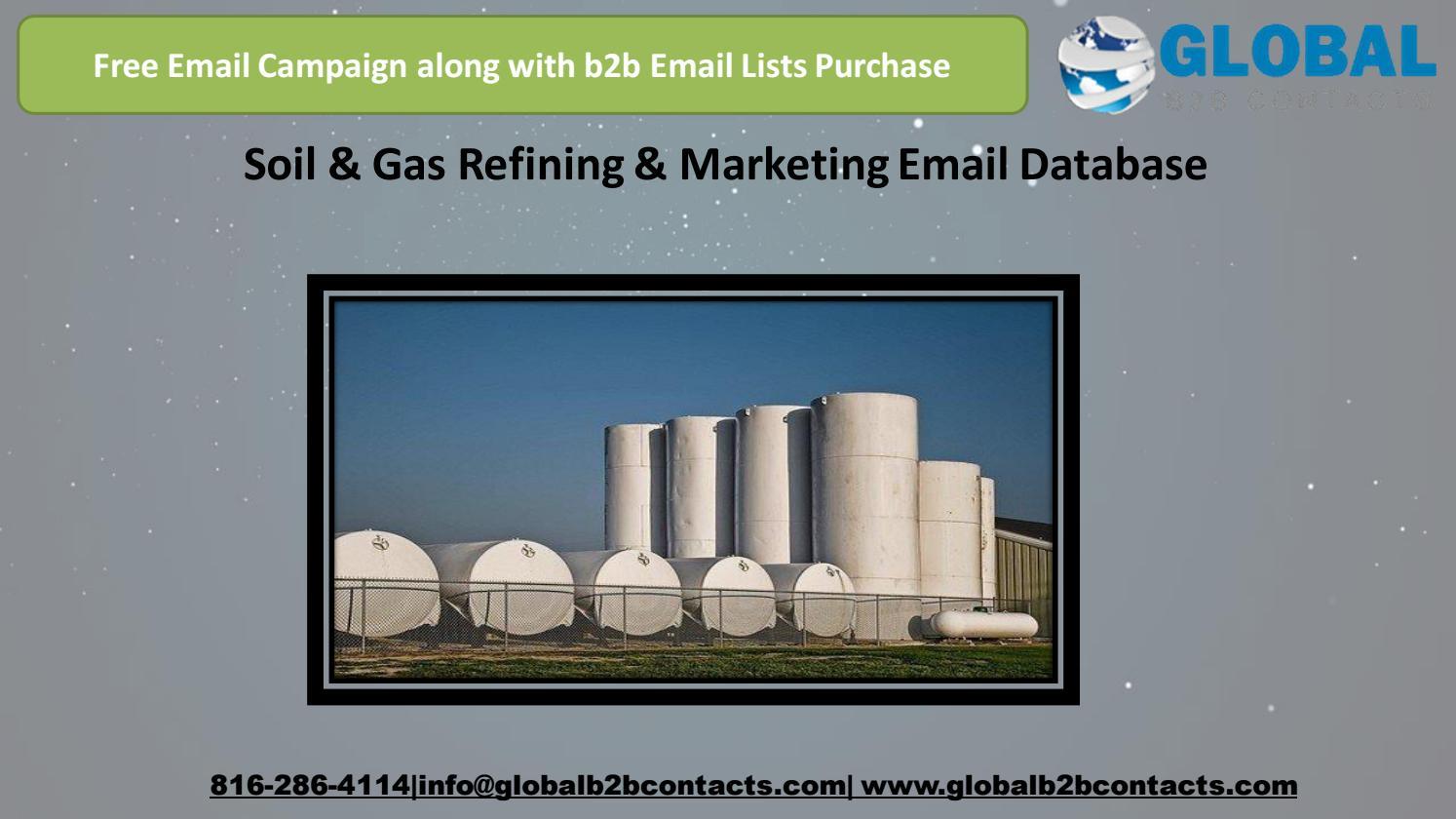Soil & Gas Refining & Marketing Email Database by Jasmine Green - issuu
