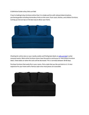 Outstanding A Definitive Guide To Buy Sofa Cum Bed By Style Crome Issuu Evergreenethics Interior Chair Design Evergreenethicsorg