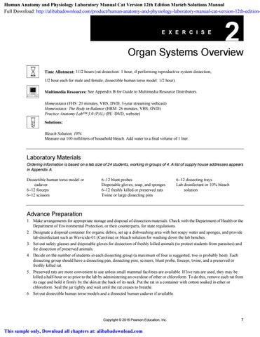 Amazon. Com: human anatomy & physiology laboratory manual, main.