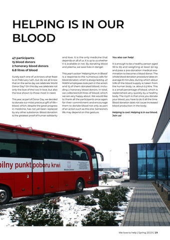 Page 19 of Helping is in our blood