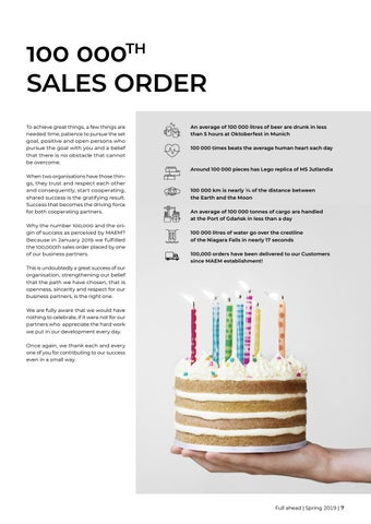 Page 7 of 100 000th sales order
