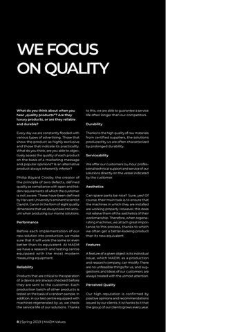 Page 8 of We focus on quality