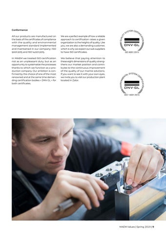Page 9 of We focus on quality