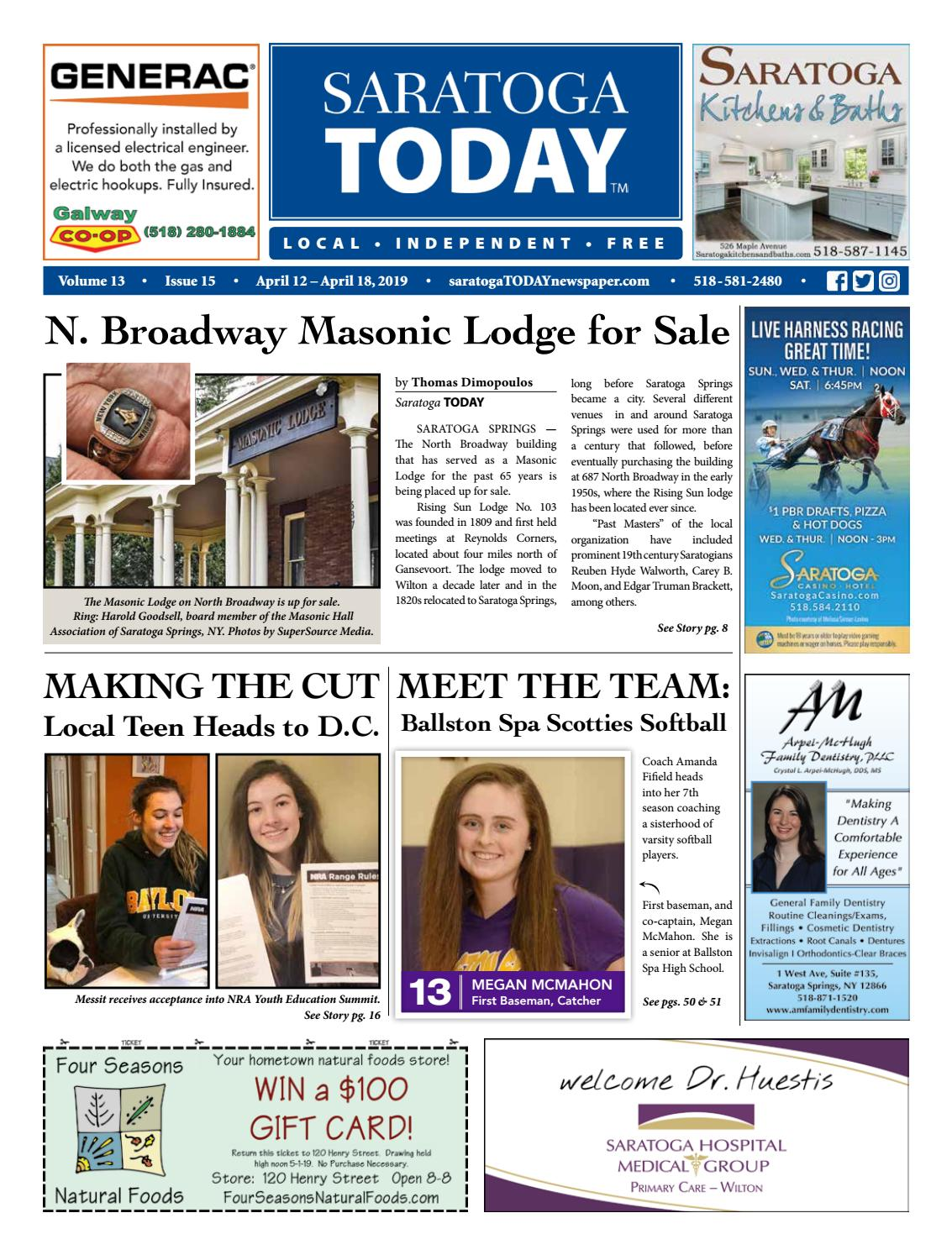 Saratoga TODAY 4 12 19 by Saratoga TODAY - issuu
