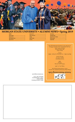 Alumni News (Spring 2019 Issue) by Morgan State University