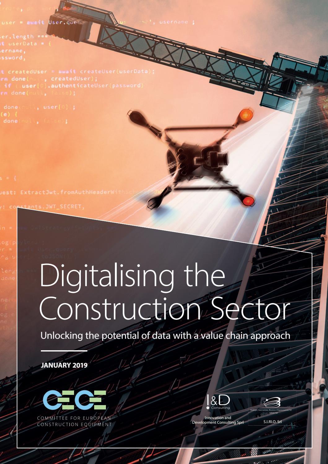 Digitalising the Construction Sector: Unlocking the