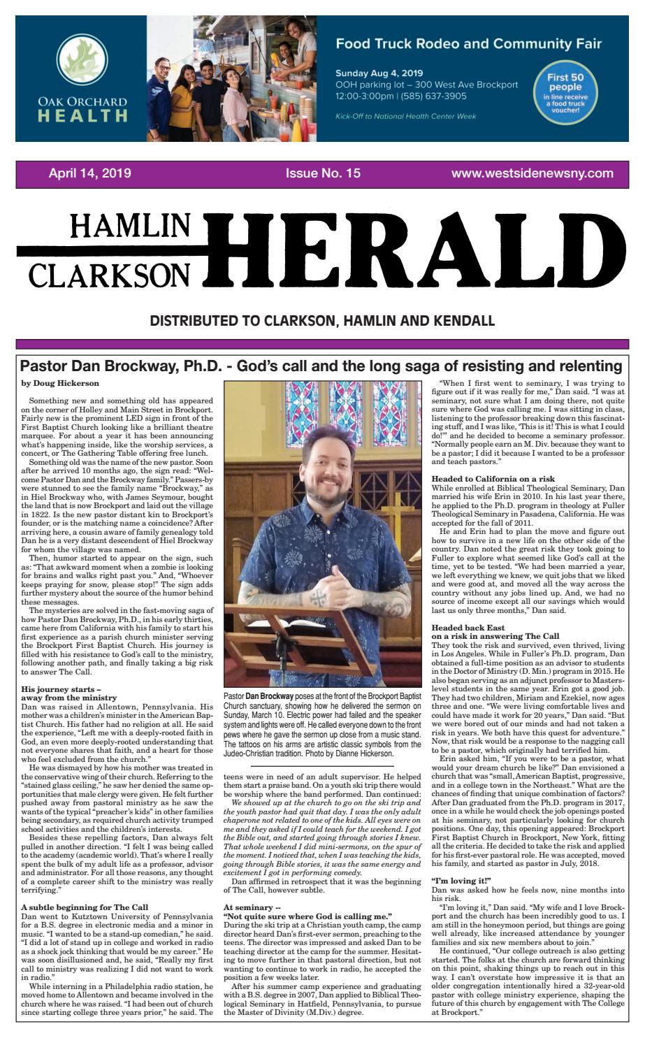 Hamlin-Clarkson Herald - April 14, 2019 by Westside News Inc  - issuu