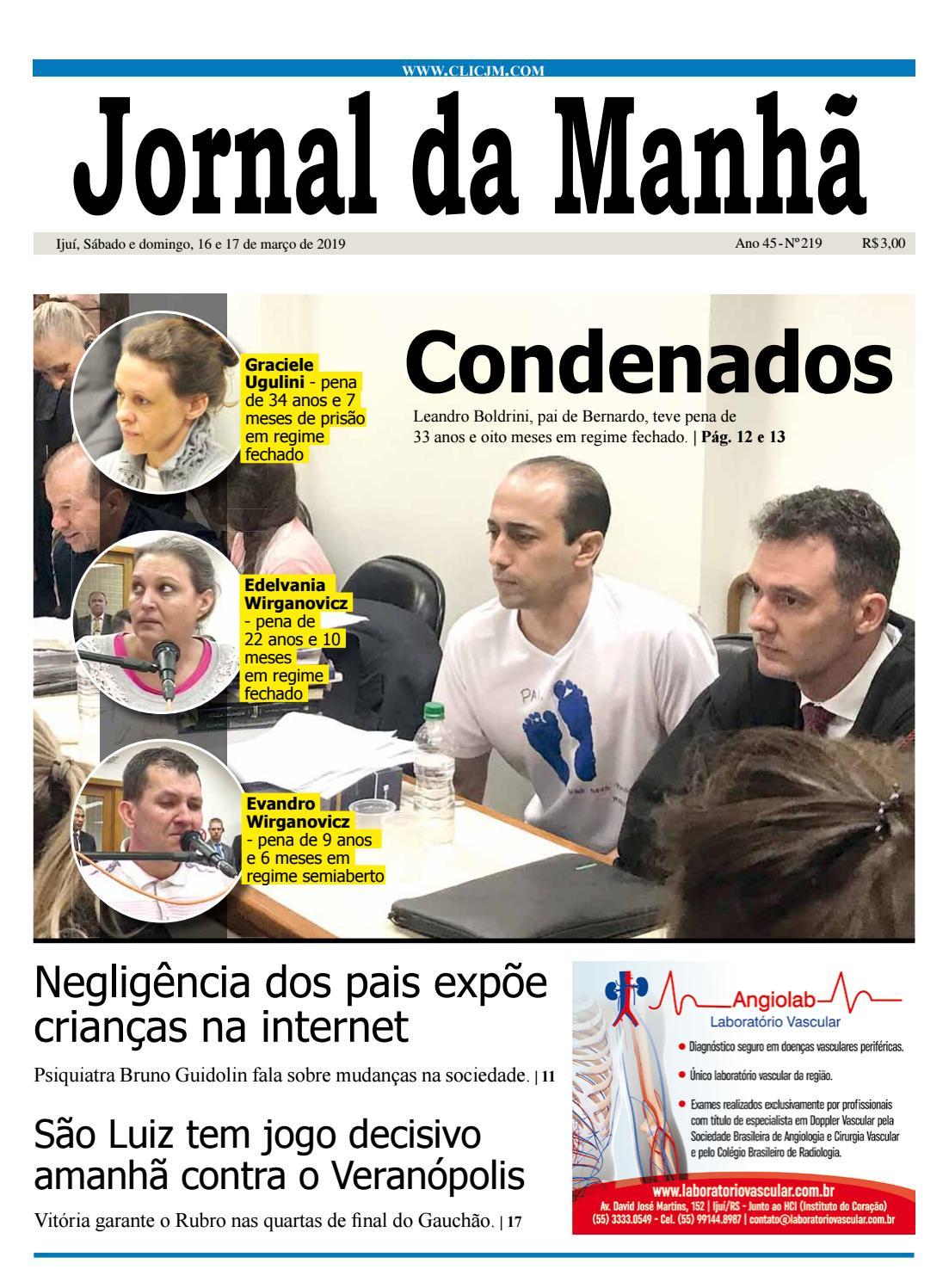 Jornal Da Manhã Sábado 16 03 2019 By Clicjm Issuu