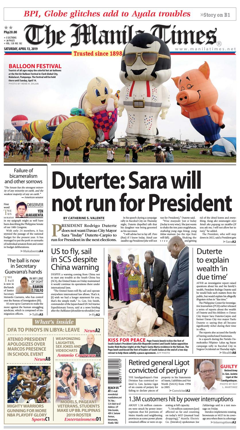 The Manila Times April 13 2019 By The Manila Times Issuu