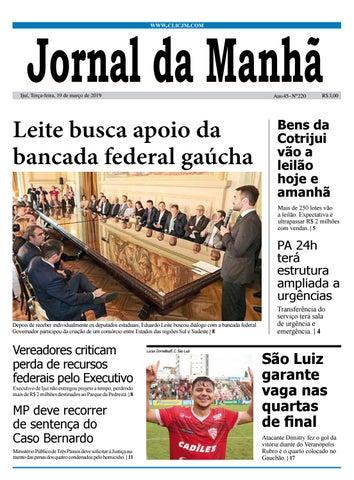 25cda1aa9 Jornal da Manhã - Terça-feira - 19-03-2019 by clicjm - issuu