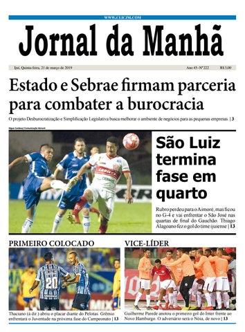 46c683c4d Jornal da Manhã - Quinta-feira - 21-03-2019 by clicjm - issuu