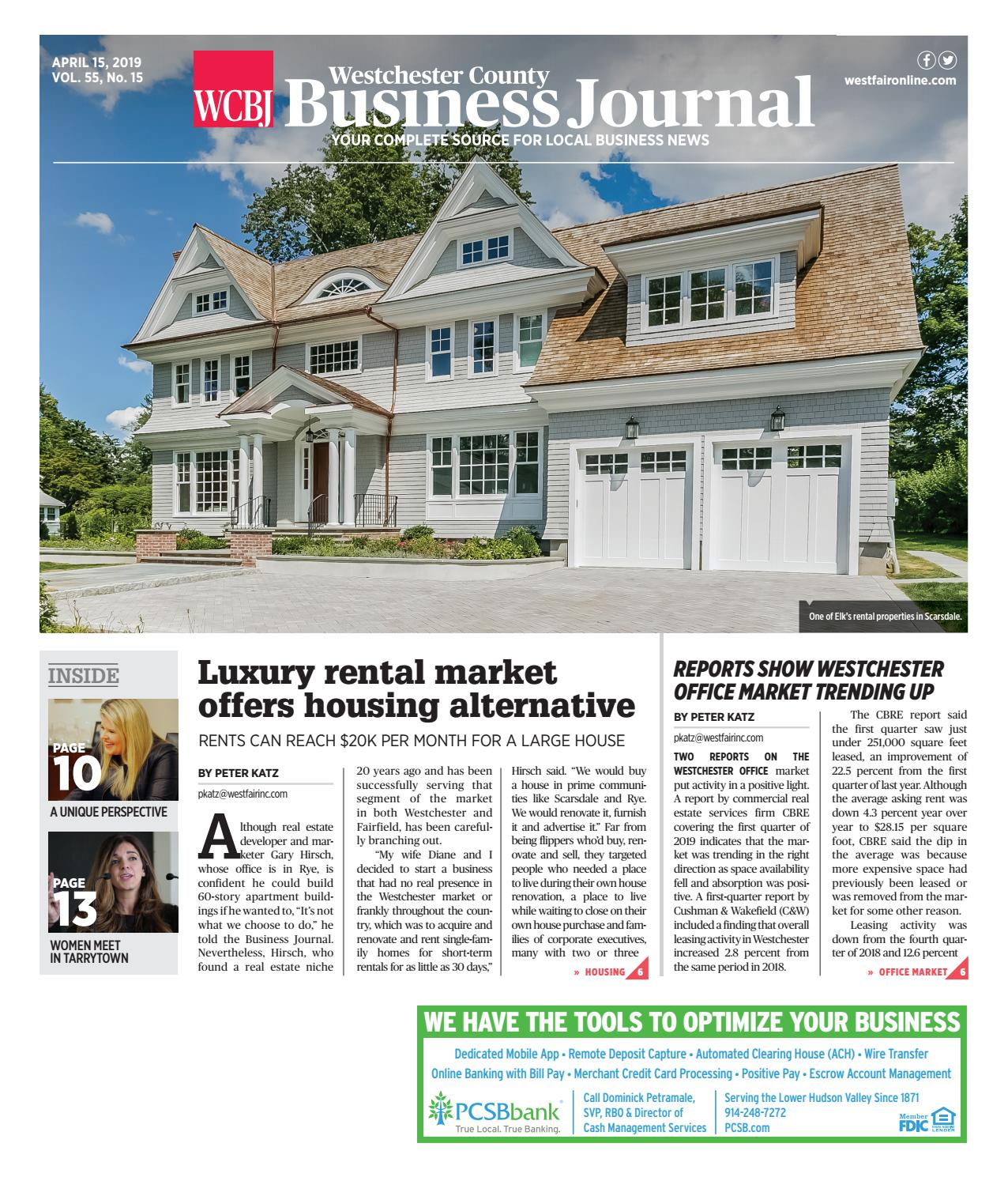 Westchester County Business Journal 041519 by Wag Magazine