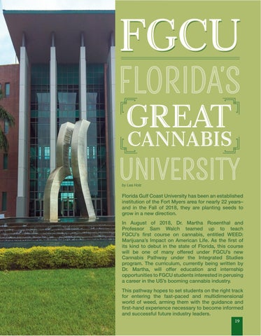 Page 19 of FGCU first University to Offer Cannabis Pathways to Degrees
