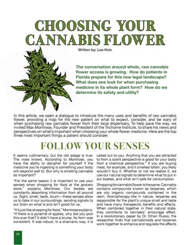 Page 30 of Choosing Your Cannabis Flower with Max Montrose