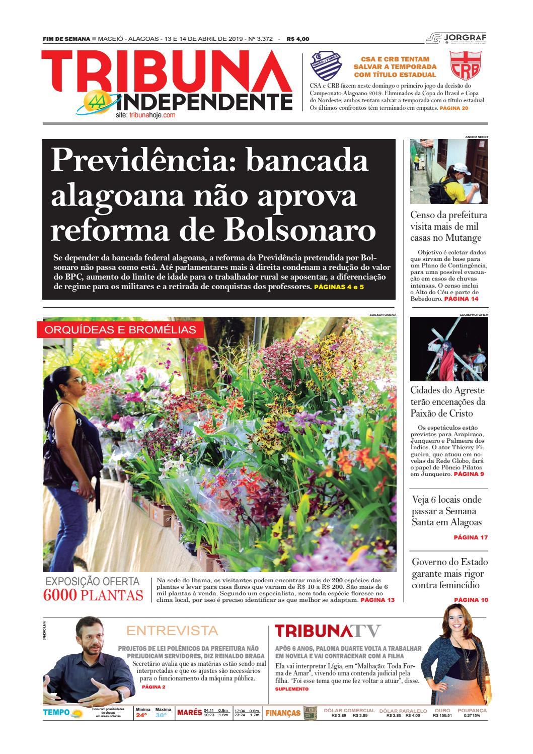 f03afb4f3 Edição número 3372 - 13 e 14 de abril de 2019 by Tribuna Hoje - issuu