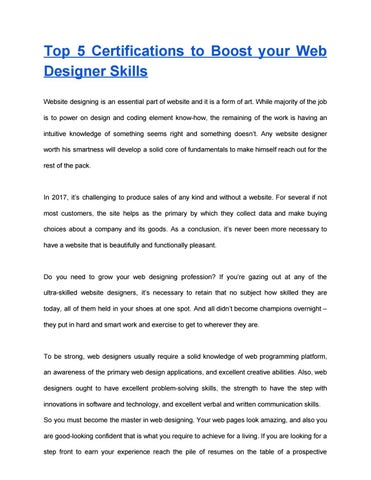 Web Designing And Development Course By Christopers188 Issuu