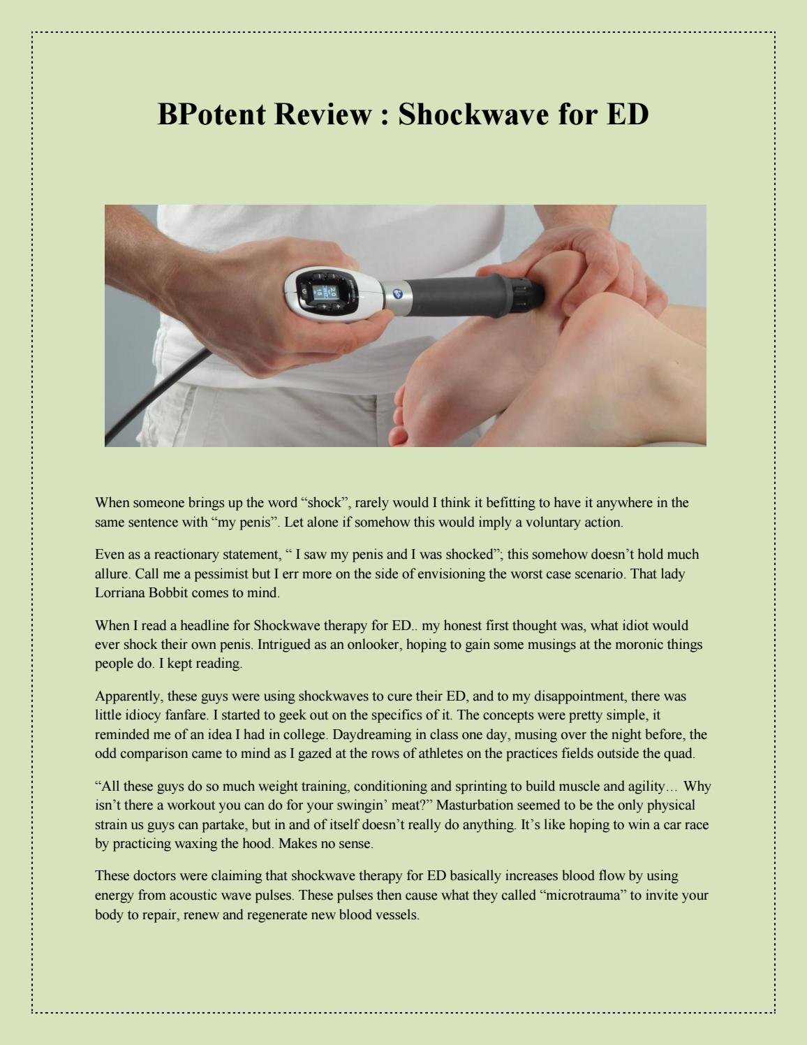 shockwave therapy for ed by Claire Jones - Issuu