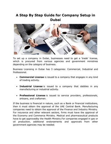 A Step By Step Guide for Company Setup in Dubai by Saeed Al