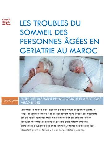 Les troubles du sommeil des personnes âgées en gériatrie au ...