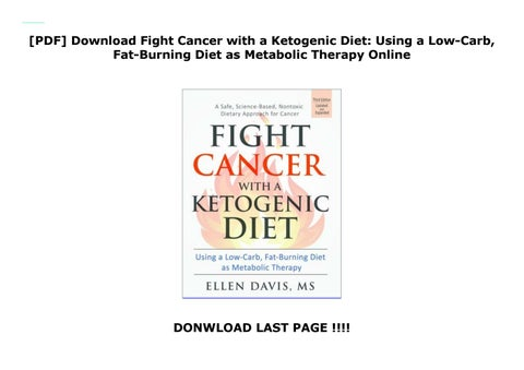 any connection between ketogenic diet and cancer pdf