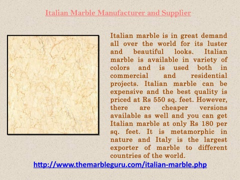 Italian Marble at Best Price in India by Ragini Sharma - issuu