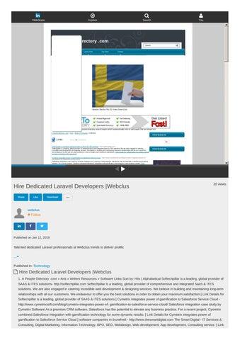 Slideshare Document - Hire Dedicated Laravel Developers  Webclus