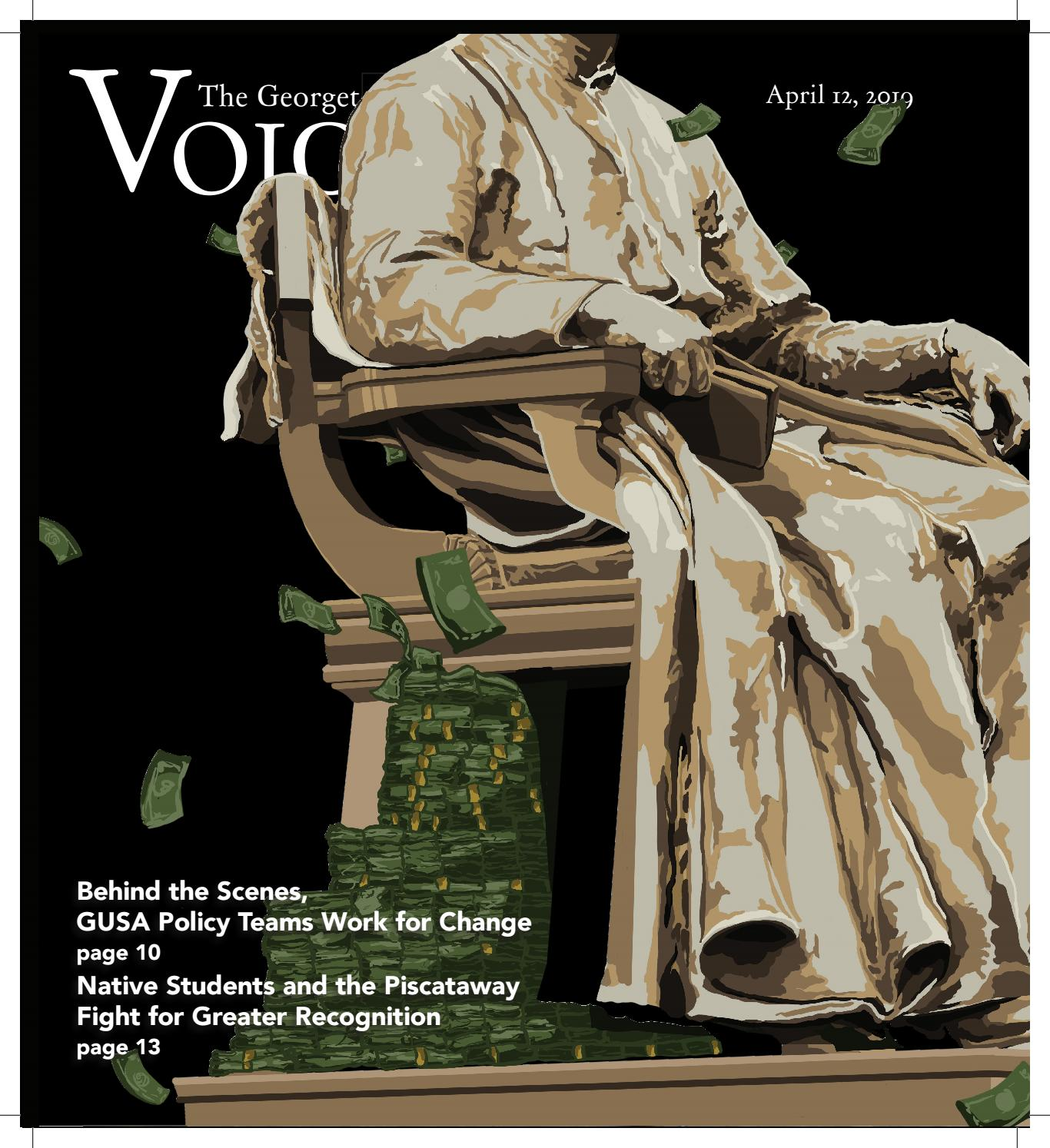 The Georgetown Voice April 12, 2019 by The Georgetown Voice