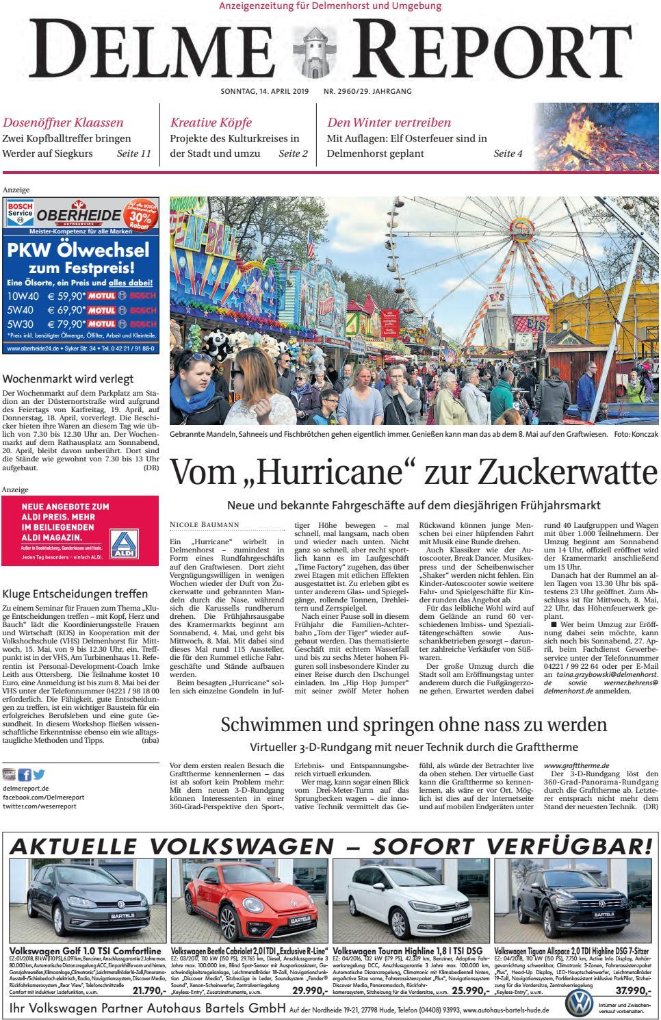Delme Report vom 14.04.2019 by KPS Verlagsgesellschaft mbH - issuu