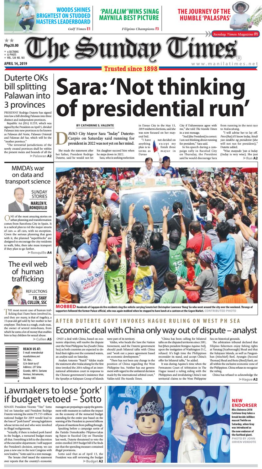 The Manila Times | April 14, 2019 by The Manila Times - issuu