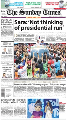 6fc2a70a The Manila Times | April 14, 2019 by The Manila Times - issuu