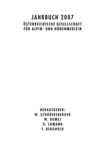 3ef836b7095b88 JAHRBUCH 2007 ÖSTERREICHISCHE GESELLSCHAFT FÜR ALPIN- UND HÖHENMEDIZIN