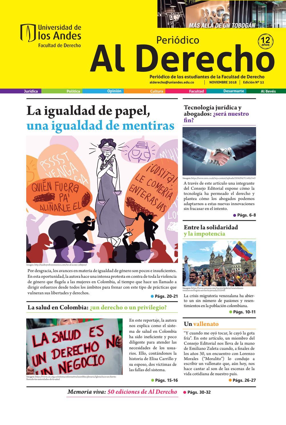 Periódico Al Derecho Edición 52 By Periódico Al Derecho Issuu