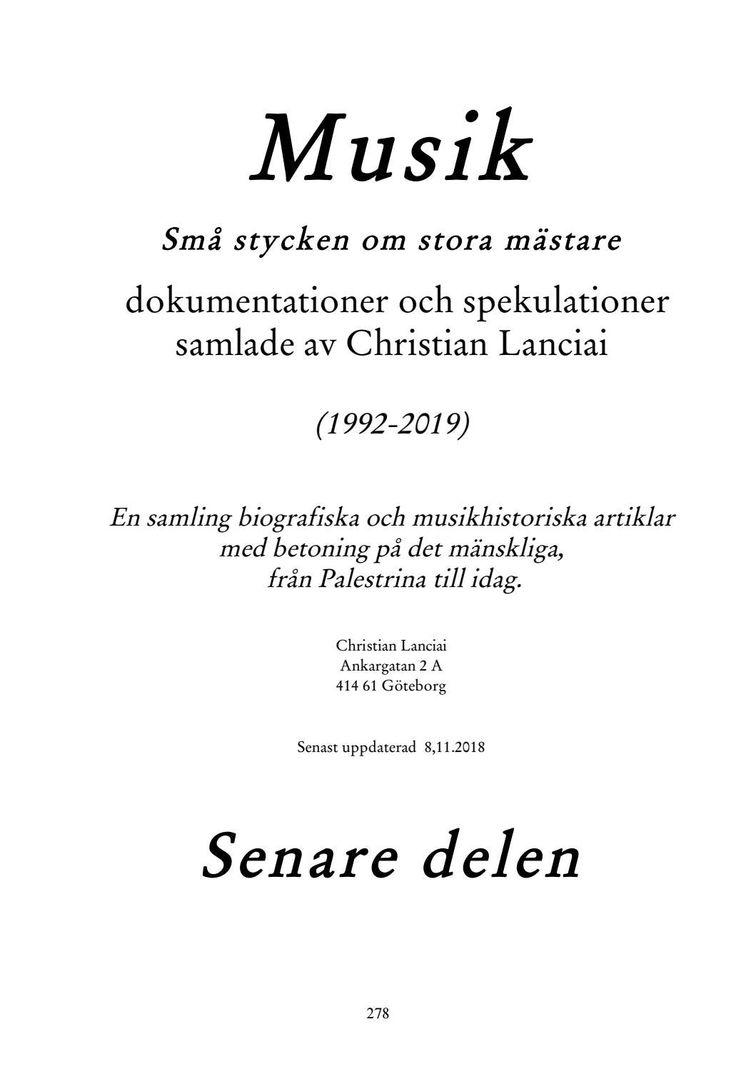 192198a410c Musikomplett2 by Christian Lanciai - issuu