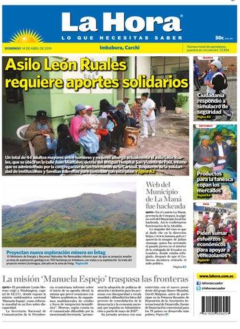 4ef9e19e Imbabura carchi 14 de abril del 2017 by Diario La Hora Ecuador - issuu