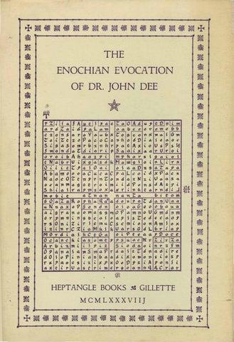 Enochian Evocation of John Dee by Stav kesler - issuu
