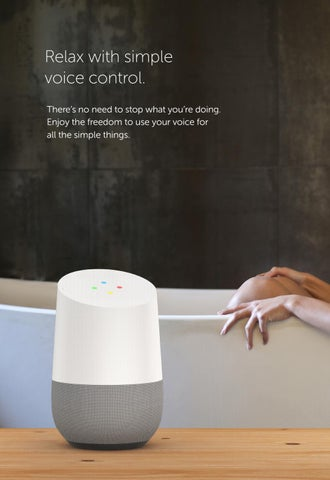 "Page 20 of ""Hey Google"", dim the lights, and play some soothing music."