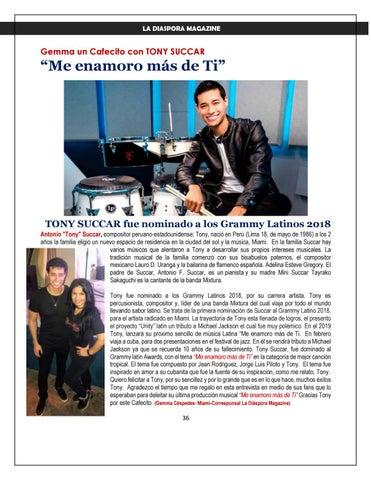 Page 36 of LA DIASPORA MAGAZINE