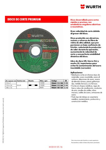 151b586be0 03 Metal - Tratamiento de Superficies by Wurth Argentina s.a - issuu