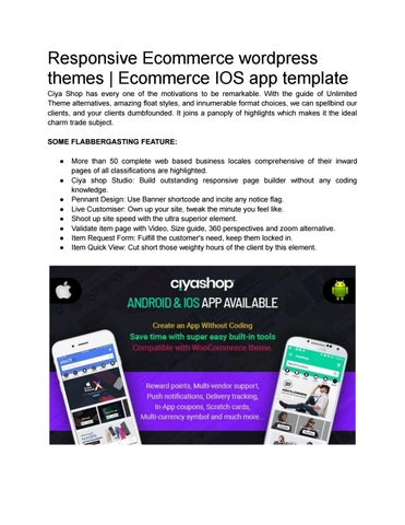 Buy The best Woocomerce wordpress themes and IOS Templates
