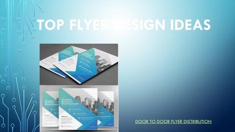 Top Flyer Design Ideas by Door To Door Flyer Distribution ...
