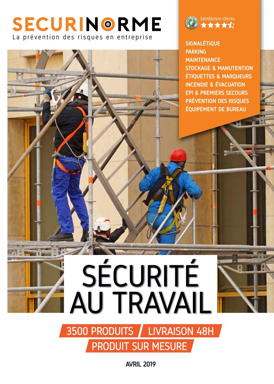 Catalogue Au Securinorme By Avril Travail Sécurité Produits 2019 iOPZkXu