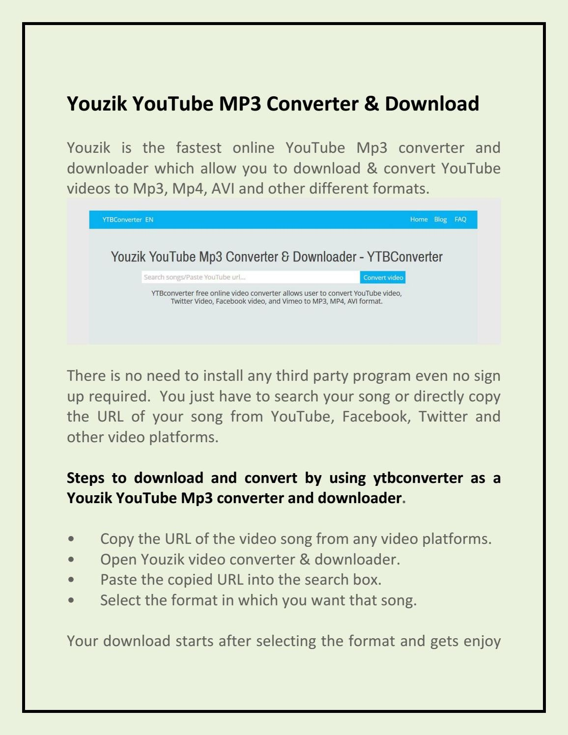 Youzik YouTube mp3 converter & downloader by akshaytrank - issuu