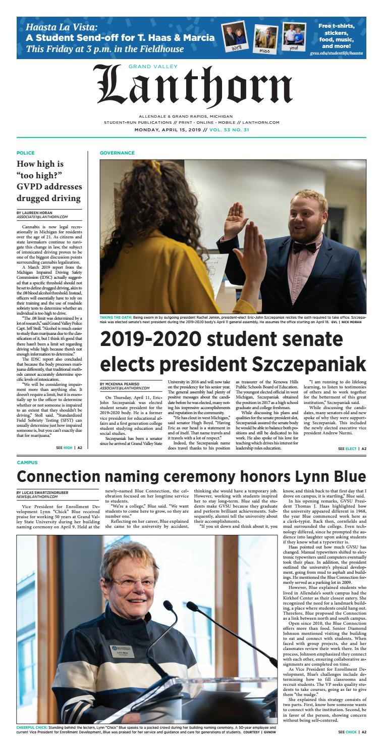 Recent Devos Hires Bode Ill For Student >> Issue 31 April 15 2019 Grand Valley Lanthorn By Grand
