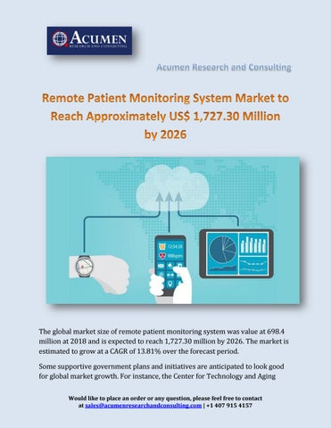 Remote Patient Monitoring System Market Surpass $1,727 30