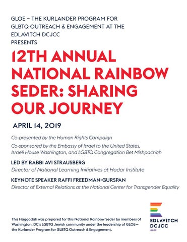 12th Annual National Rainbow Seder: Sharing Our Journey by