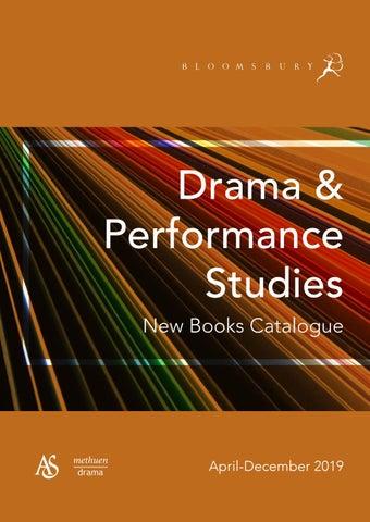 Drama & Performance Studies Catalogue April-December 2019 by
