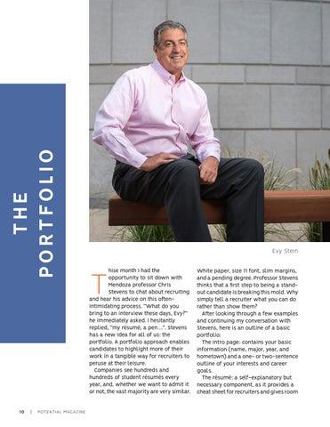 Page 10 of The Portfolio